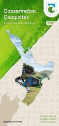 Conservation Campsites North Island 2011 - Department of ...