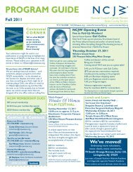 Program guide - National Council of Jewish Women