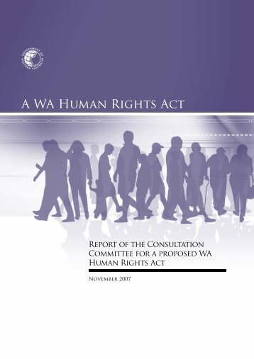 Report of the Consultation Committee for a Proposed WA Human ...