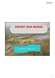 RIM Maroc : bilan et perspectives du projet – A ... - Fondation FARM