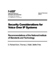 NIST SP 800-58, Security Considerations for Voice Over IP Systems