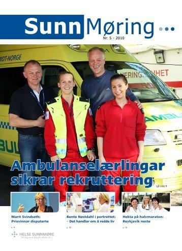 Ambulanselærlingar sikrar rekruttering - Helse Midt-Norge