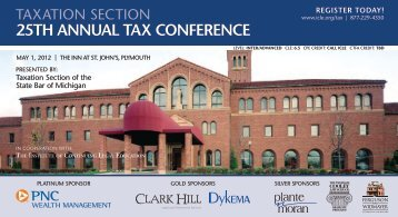 25th annual tax conference - Institute of Continuing Legal Education