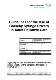 Syringe Driver Policy.pdf - NHS North Somerset