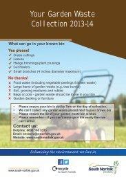 Brown bin calendar - week 2 [PDF] - South Norfolk Council