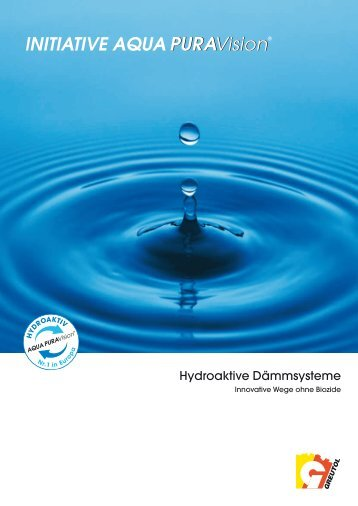 Hydroaktive Dämmsysteme - AQUA PURAVision