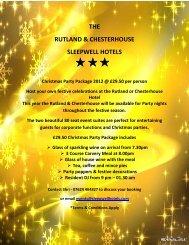 THE RUTLAND & CHESTERHOUSE SLEEPWELL HOTELS