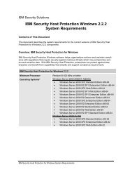 IBM Security Host Protection Windows 2.2.2 System ... - IBM notice