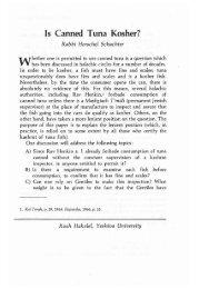 Volume 15 - RJJ Journal of Halacha and ... - YU Torah Online
