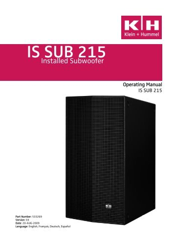 IS SUB 215 - Installed Sound