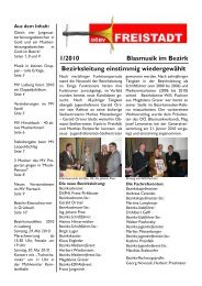 1/2010 Blasmusik im Bezirk Bezirksleitung einstimmig ... - Freistadt