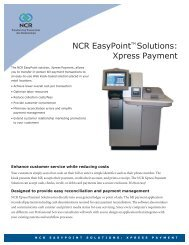 NCR EasyPointTM Solutions: Xpress Payment