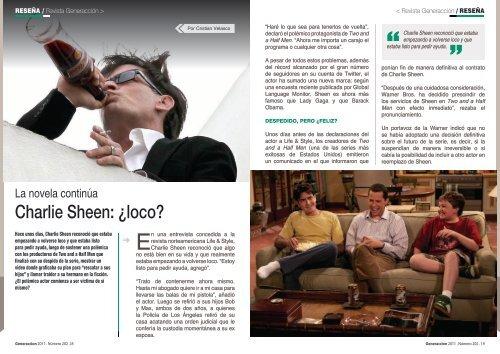 Charlie Sheen: Â¿loco? - Generaccion.com