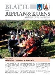 Riffian/Kuens: 1. Heimat- und Ortsfernentreffen
