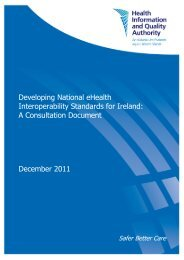 Developing National eHealth Interoperability Standards for ... - hiqa.ie