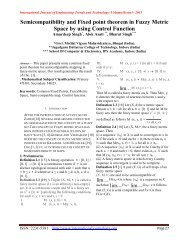 Semicompatibility and Fixed point theorem in Fuzzy Metric Space by ...