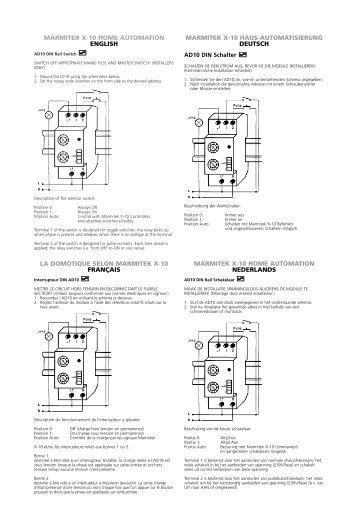 marmitek x-10 home automation english la domotique ... - Okos Otthon