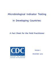 Microbiological Indicator Testing in Developing Countries: - Hygiene ...