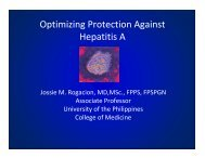Optimizing Protection Against Hepatitis A - Pediatric Infectious ...
