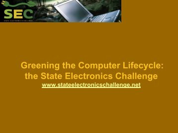 The State Electronics Challenge - NC Project Green