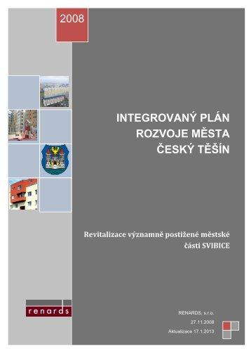 IPRM Český Těšín – Revitalizace významně postižené městské části ...