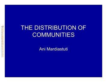 Bio5 – Distr of Communities
