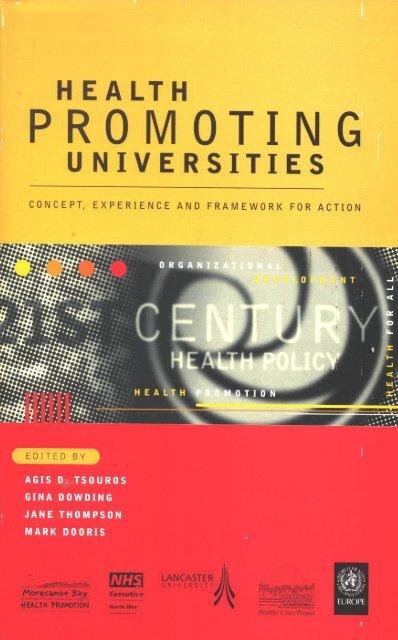 Health promoting universities - World Health Organization Regional ...