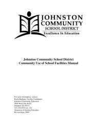 Facility Usage Manual - Johnston Community School District