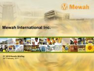 Sales Revenue - Mewah Group