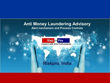 Anti Money Laundering Advisory Riskpro, India