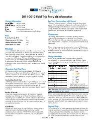 Pre-Visit Information Sheet - Illinois Holocaust Museum & Education ...