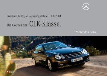 Die Coupés der CLK-Klasse. - Mercedes Benz