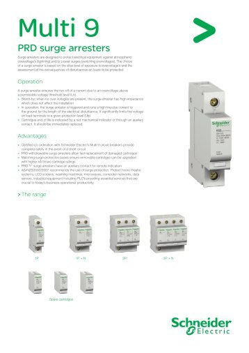 Multi 9 Surge Protection - Schneider Electric