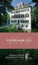 programm 2013 - Frankfurter Bürgerstiftung im Holzhausenschlößchen