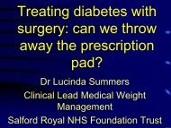 Treating diabetes with surgery: can we throw away the prescription ...