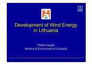 Development of Wind Energy in Lithuania