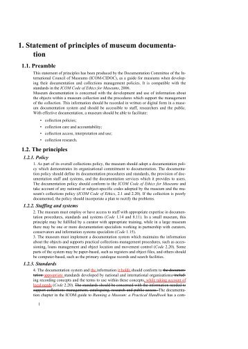 1. Statement of principles of museum documenta - The International ...