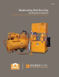 Metalworking Fluid Recycling Brochure - Eriez