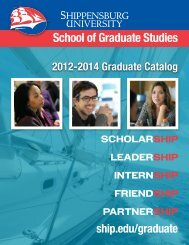 Graduate Catalog - Shippensburg University