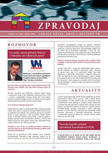 ZPRAVODAJ - Národní síť Zdravých měst ČR