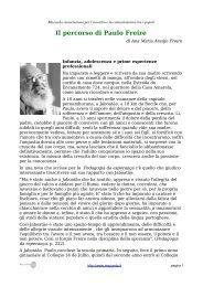 Il percorso di Paulo Freire - Associazione Macondo