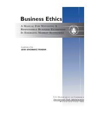 Business Ethics - International Trade Administration - Department of ...