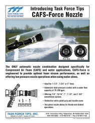 CAFS-Force Nozzle Brochure (pdf) - Task Force Tips