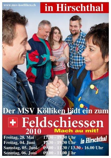 Ranglisten Schiessplatz 2 und AGSV - Militärschiessverein Kölliken