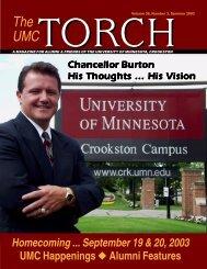 Volume 36, Number 3, Summer 2003 - University of Minnesota ...