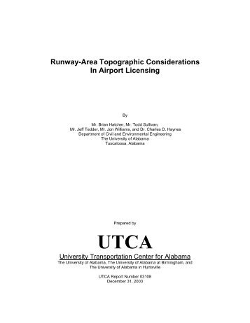 Runway-area Topographic Considerations - University ...