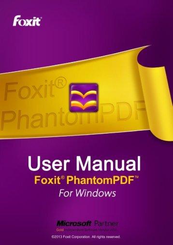 Foxit PhantomPDF 5.5 - Parent Directory