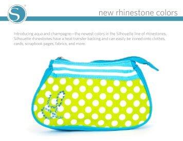 new rhinestone colors - Silhouette