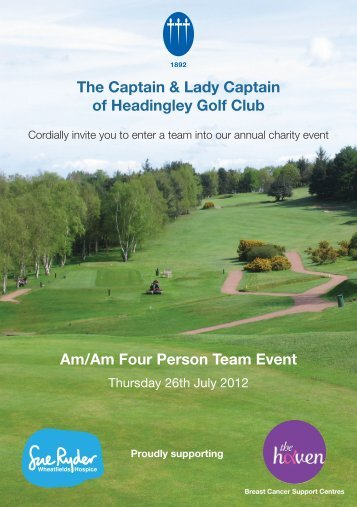 The Captain & Lady Captain of Headingley Golf Club ... - The Haven