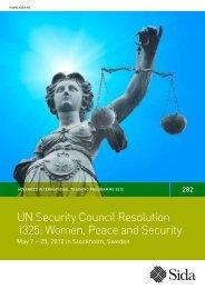 UN Security Council Resolution 1325: Women, Peace ... - Indevelop